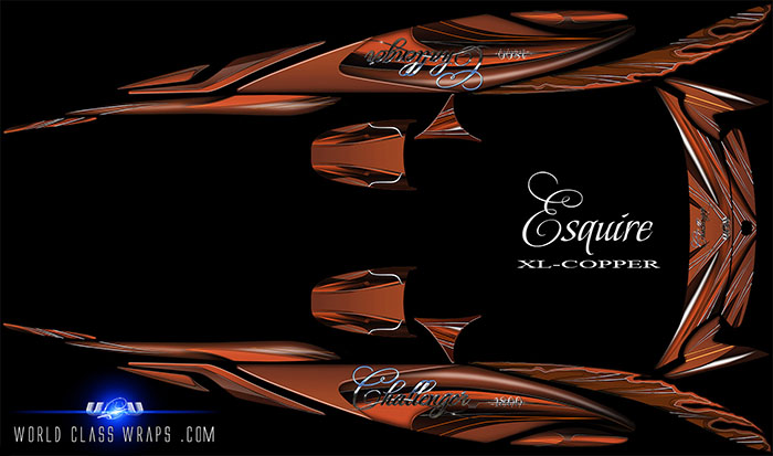 jet boat custom XL Esquire graphics