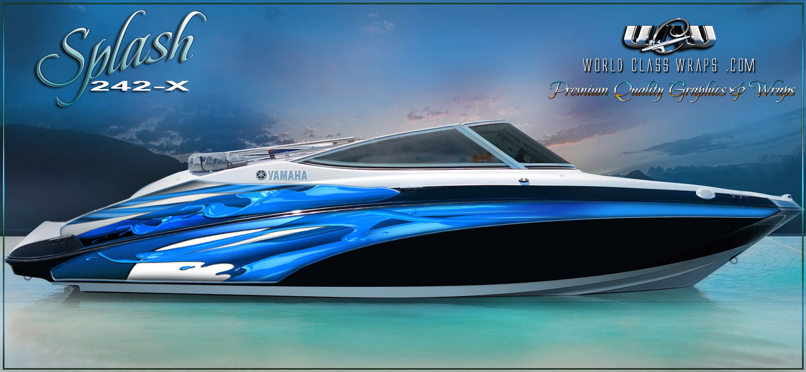 Yamaha splash boat graphics for Yamaha boat decals graphics